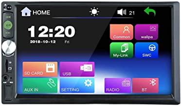 2DIN Capacitive Touch Screen 7 inch Car Stereo Mirror Link FM only Bluetooth MP3 MP4 Player with USB SD HD Decoding with Remote Control (No DVD Player) RM-JQ7305A