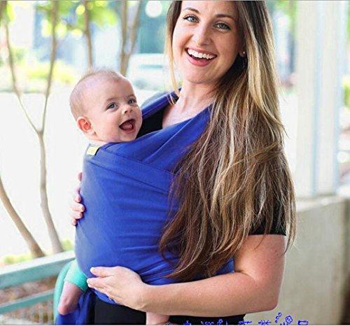 Lumière Matière extensible Porte-bébé Porte-bébé bébé Wraps, Bleu, Taille unique