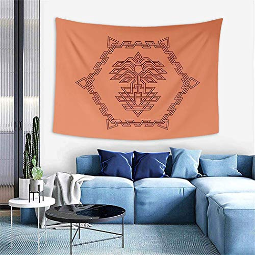 Roman Empire Flag Tapestry,Phoenix Abstract Knot Celtic Logo Design Inspiration,Wall Hanging Wall Decor Blanket for Bedrooms Living Room Tablecloth Dorm Home Decor - 50'x60'