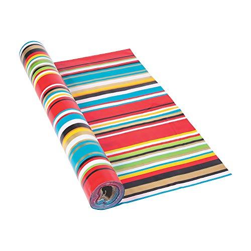"Fun Express Bright Color Fiesta Serape Tablecloth Roll (40"" x 100ft.) Cinco de Mayo Party Fiesta Table Cover"