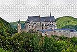 NHJUIJ 1000 Piezas Puzzles Piezas Puzzle Rompecabezas Castillo de los Caballeros de Luxemburgo Miniatura diypara Adultos Juegos de Rompecabezas