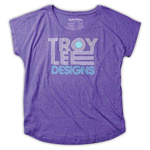 Troy Lee Designs Women's Linear Dolman Shirts,Large,Heather Purple
