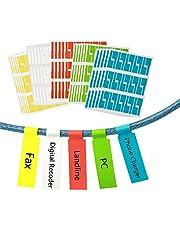 750 szt. samoprzylepne etykiety kablowe zoomsky wodoodporna etykieta na drut odporna na rozdarcie znacznik na kabel naklejki identyfikacja kabla 5 różnych kolorów 25 arkuszy