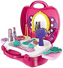 Smartcraft Girls Bring Along Beauty Suitcase Makeup Vanity Toy Set - 21 Pieces