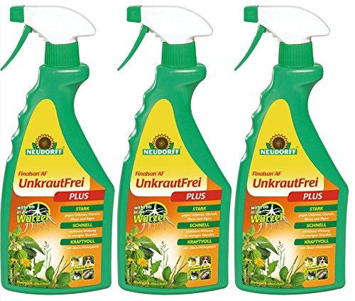 3 x 750 ml Neudorff Finalsan AF UnkrautFrei Plus Unkrautvernichter, Anwendungsfertig