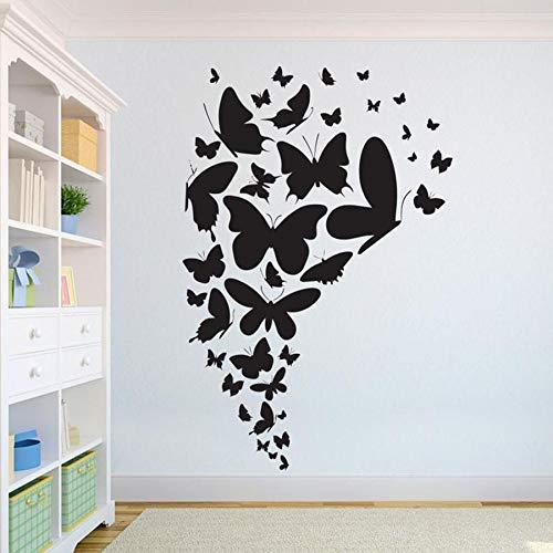 Hermosa mariposa pared calcomanía niños dormitorio Animal hogar diseño interior aula arte mural vinilo pared pegatina