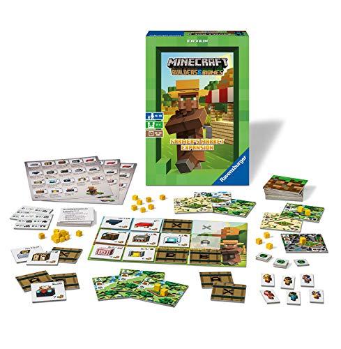 Ravensburger 26869 - Minecraft Builders & Biomes Farmers Market Expansion - Erweiterung zum Brettspiel Minecraft Builders & Biomes, Spiel für Erwachsene und Kinder ab 10 Jahren, für 2-4 Spieler