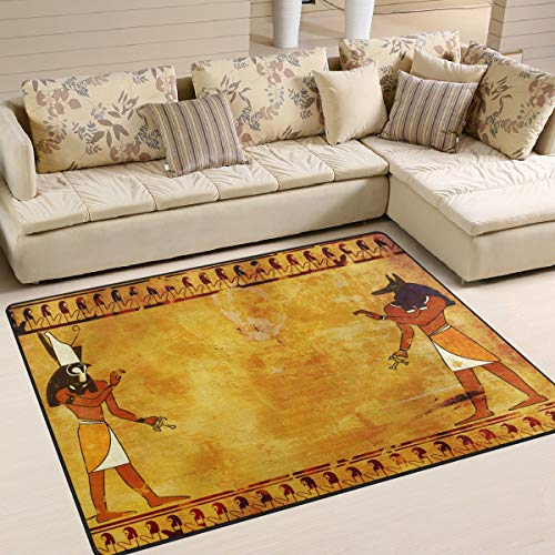 Use7 Alfombra egipcia para sala de estar, dormitorio, 160 x 122 cm