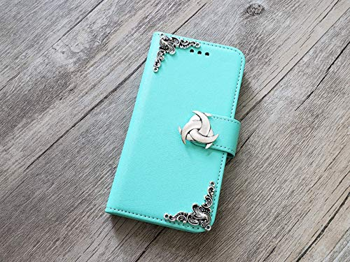Trinity Celtic Knot Removable Wallet Handmade Phone Wallet Case Cover for iPhone 8 7 6 6s X Xs Xr 11 Pro Max Samsung Galaxy S8 S9 S10 Plus Note 8 9 10 Plus Mn0957