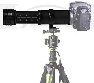 Jintu 420 - 800mm F / 83 - 16. Alta definición teleobjetivo de enfoque manual para cámara Canon EOS EF 5D Mark III 3 II 7D II 650D 700D 1000D 450D 550D 60D DSLR.
