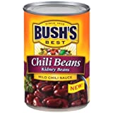 Bush's Best Kidney Chili Beans in Mild Chili Sauce, 16 oz Pack of 6 Dark red kidney beans simmered in a hearty chili sauce Gluten free