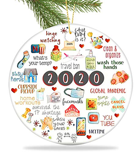 Baolyda 2020 Christmas Ornament Meaningful Quarantine Ornament Harmless Cute Xmas Decoration for Gifts Tree Home
