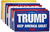 COOME 8 Stück Trump 2020 Fahne 3x152 cm - President Donald Trump 2020 Flagge Keep America Great Flag NO More BS Flag with Ösen