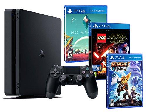 Playstation 4 PS4 Slim 1To ENFANTS PACK 3 jeux! Lego Star Wars: le Réveil de la Force + Ratchet & Clank + No Man's Sky