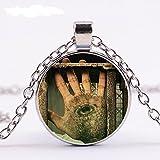 TopschnaeppchenDSH Prison Break - Michael Scofields Hand - Glasanhänger mit silberfarbener...