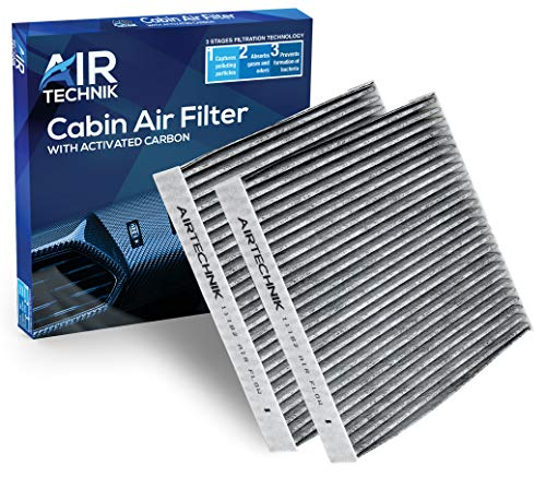AirTechnik CF11182 Cabin Air Filter w/Activated Carbon (2 Pack) | Fits Acura RDX 19-20 / Honda Civic 16-20, Clarity 17-19, CR-V 17-20, CR-Z 11-16, Fit 09-19, Odyssey 18-19, Insight 10-20