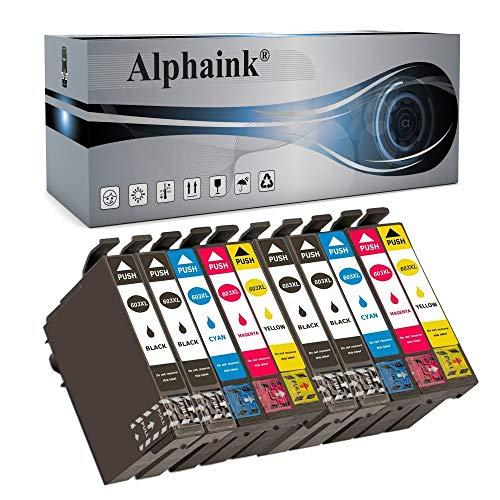 Alphaink 10 Cartucce d'inchiostro compatibili con Epson T-603-XL per stampanti Expression Home XP-2100 XP-2105 XP-4105 XP-4100 XP-3105 XP-3100 WorkForce WF-2850DWF WF-2835DWF WF-2830DWF WF-2810DWF