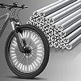Velmia Speichenreflektoren Set [36 Stück] StVZO zugelassen I 360° Sichtbarkeit - einfache Montage - Speichenreflektoren Fahrrad - Katzenaugen