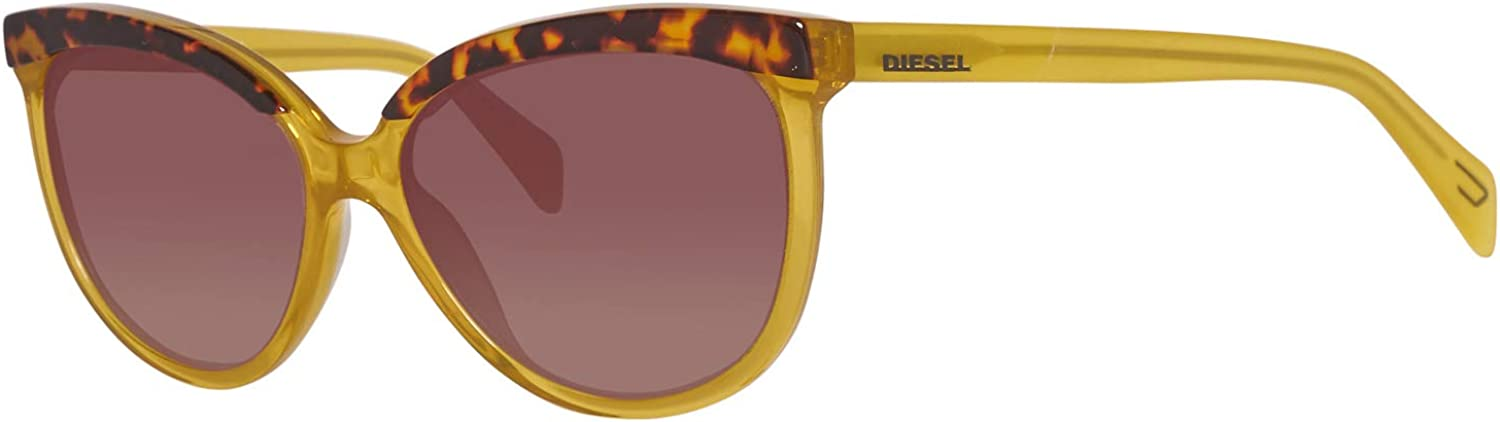 Diesel Women's DL0081 Acetate Cat Yellow Sunglasses 59