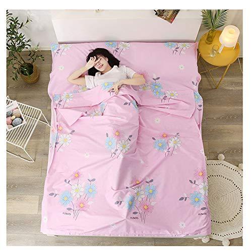 YAOTT Reise Schlafsack Liner mit Muster,leichte Schlafsackhülle für Erwachsene im Hotel und Outdoor-Standalone-Schlafsack mit Reißverschluss 4 180 * 210cm