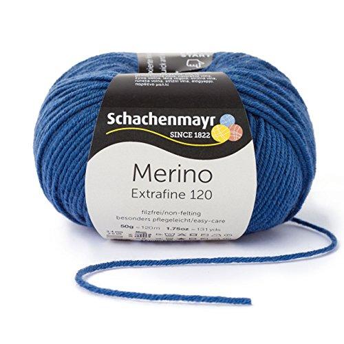 Schachenmayr Merino Extrafine 120 9807552-00154 jeans Handstrickgarn, Schurwolle