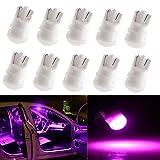 YongMing T10 LED ピンク 2835 3連 ルームランプ ポジションランプ セラミック 拡散レンズ 12V 10個