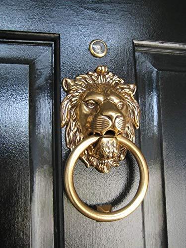 Authentic Vintage Brass Lion Door & Gate Knocker Handle Pull Door Accessories Home Decor