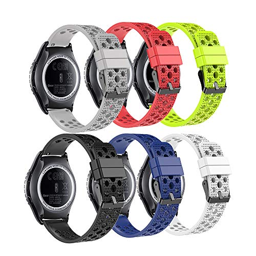 Fit-power – Smartwatch-Ersatzarmband, 20 mm, für Samsung Gear Sport / Samsung Gear S2 Classic / Huawei Watch 2 Watch / Garmin Vivoactive 3 / Garmin Vivomove HR, 20 mm Uhrenarmband 6C