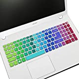 Keyboard Cover Fit 2019 2018 Acer Aspire E15 E5-575/576G/573G ES15 ES1-572 |Aspire E 17 E5-772G |Aspire V15 V17 VN7-592G/792G F15 F5-571/573G / Aspire A315 A515 A715(Not Fit New Aspire 5 Slim)-Rainbow