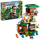 LEGO Minecraft The Modern Treehouse 21174 Giant Treehouse Building Kit Playset; Fun Toy for Minecraft-Gaming Kids; New 2021 (909 Pieces)