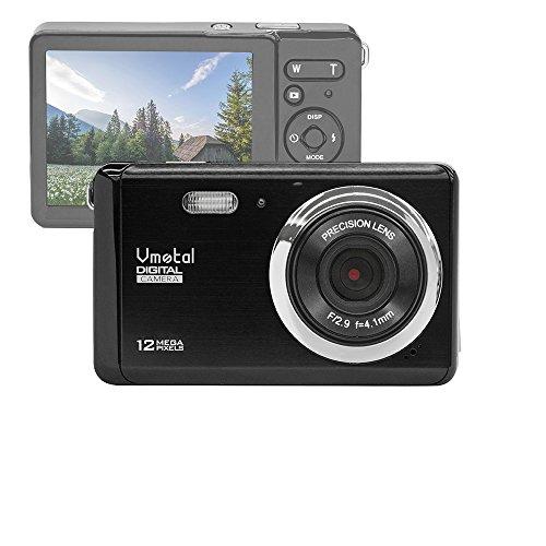 """Vmotal GDC80X2 Cámara Digital compacta con Zoom Digital 8X / 12 MP/Cámara compacta HD/Pantalla TFT LCD de 3"""" para niños/Principiantes/Ancianos (Negro)"""