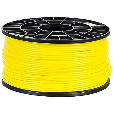 NuNus ABS Filament 1KG (3mm, Gelb) Premium Qualität für 3D Drucker MakerBot RepRap MakerGear Ultimaker uvm.