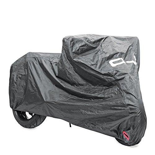 Oj - Funda de lona para moto, scooter, compatible con Peugeot LXR 200 2013, impermeable, color negro