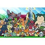 W-life 300/500 / 1000pcs Rompecabezas Juguetes De Madera Regalos Pokémon De Dibujos Animados Rompecabezas Juguetes For Niños De Juguete Animado Desafío Rompecabezas (Color : B, Size : 500pc)
