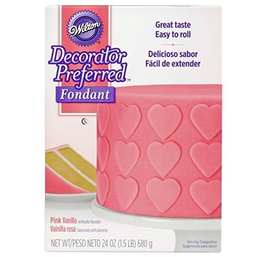 Wilton Decorator Preferred Pink Fondant, 24 oz. Fondant Icing