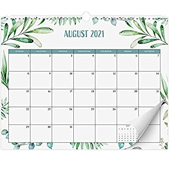 Aesthetic Greenery Wall Calendar For Easy Planning - Runs from January 2021 Until July 2022