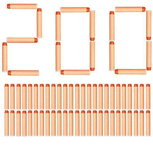 ZJchao Suave Refill Dardos para Nerf N-Strike Elite Series (200 Orange)