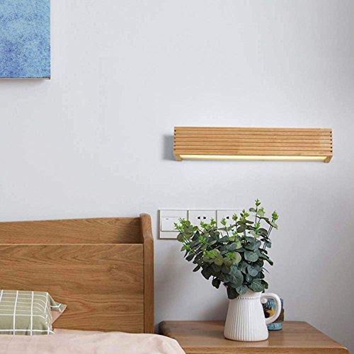 HYY-YY Inicio Espejo de baño de estilo europeo Faros Led Madera Arte de la pared de la lámpara nórdica Escaleras Pasillo Baño delantera de espejo de noche dormitorio lámpara de pared del bulbo (Opcion