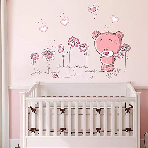 WandSticker4U- Wandtattoo BABY BÄR in rosa - 3