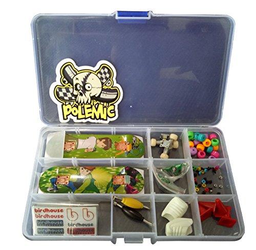 Fanci ABS Finger Skateboard Set Double Rocker DIY Mini Finger Boarding Toy with Storage Box