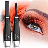 Heated Eyelash Curler, Meidong Electric Eyelash Curler For Quick and Long-Lasting Eyelash Natural Curling With 4 Temperature Modes LED Displays USB Rechargeable Portable Eye Beauty Makeup Tools