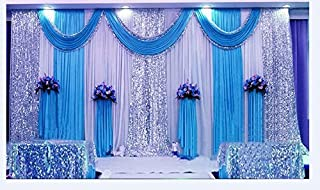 LB Wedding Stage Decorations Backdrop Party Drapes Ivory White Background Backdrop Drape Curtain for Wedding Ceremony Event Party Venue Decorations,20x10 ft