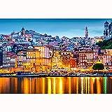 Alice Puzzles Rompecabezas Portugal Portugal Puzzle 1000/2000/3000/4000 Pieza Adulto Educativa Regalo Decoración para El Hogar(Size:4000 Pieces)