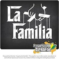 ラ・ファミリア・マリオネット映画マフィア・コミュニティ La Familia Marionette Film Mafia Community 13cm x 10cm 15色 - ネオン+クロム! ステッカービニールオートバイ