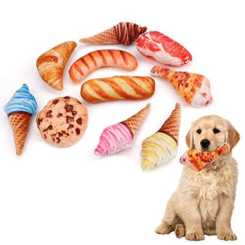 10 szt. Symulacja jedzenia piszczący pies zabawki dla małych psów, odporne na gryzienie wytrzymałe zabawki dla psów zabawki dla szczeniąt, zabawki do żucia, nowość zabawki dla zwierząt domowych