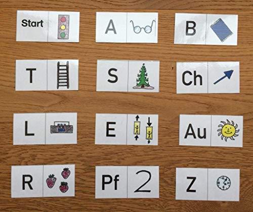 Deutsch KLASSE 1 + FREIARBEIT: Anlautdomino - Anfangsunterricht Grundschule Freiarbeitsmaterial - Übungsmaterial für daheim - erstes Lesen - Domino Anlaute