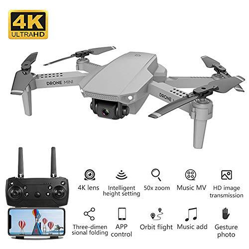 XIAOKEKE E88 Mini Drone con Telecamera 4K HD FPV, Compatibile con VR Box, Quadricottero WiFi Un Pulsante Decollo E Atterraggio, 3D Flip, Funzione di Hovering, Adatto Ai Principianti E Bambini