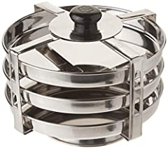 3-tier or 3 plate insert 3 tier - width: 7.5 inches Height: 6 inches Suitable for instant pot 5 quarts and up. Will work for 5, 6, and 8 quarts. Will work with various other electric pressure cooker. Strong handle used to easily lift the insert out o...