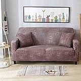 Lsqdwy 1/2/3/4 plazas Funda de sofá elástica Fundas de sofá Fundas de sofá de algodón para Sala de Estar Funda de sofá...