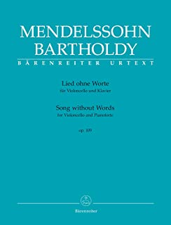 Mendelssohn: Song without Words, Op. 109